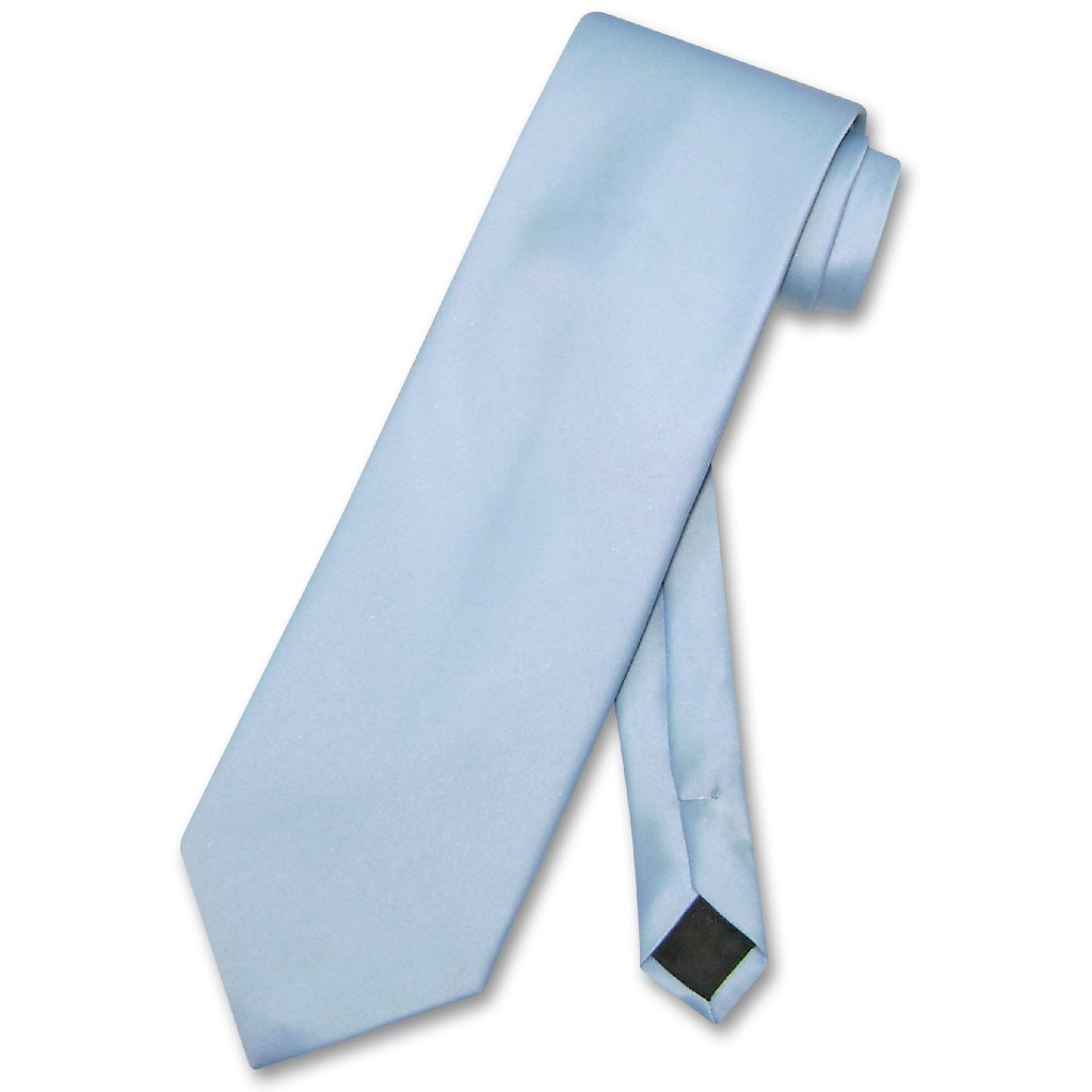 Vesuvio Napoli NeckTie Solid BABY BLUE Color Men's Neck Tie