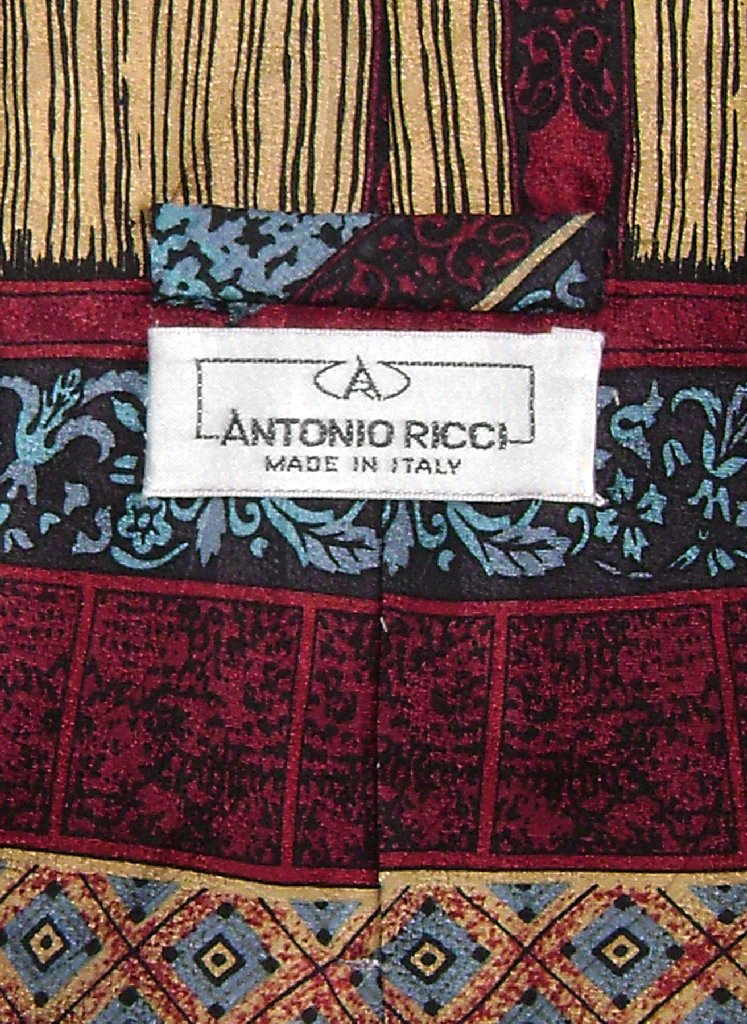Antonio Ricci SILK NeckTie Made in ITALY Geometric Design Men's Neck Tie #3106-4