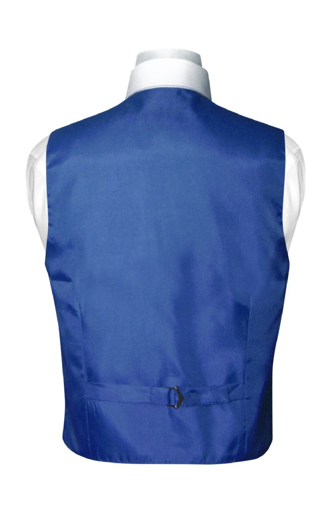 BOY'S Dress Vest & BOW TIE Solid ROYAL BLUE Color Bow Tie Set