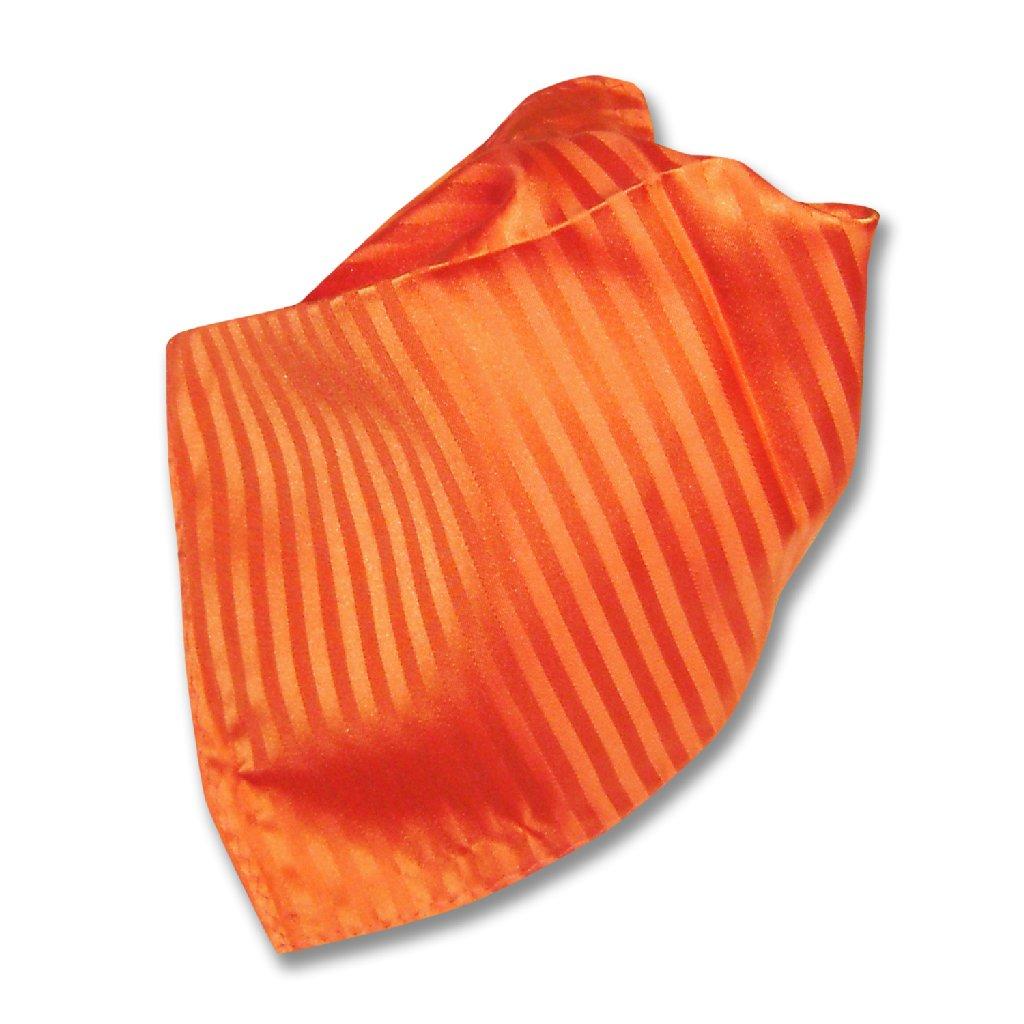 Mens Dress Vest & NeckTie Orange Color Vertical Striped ...