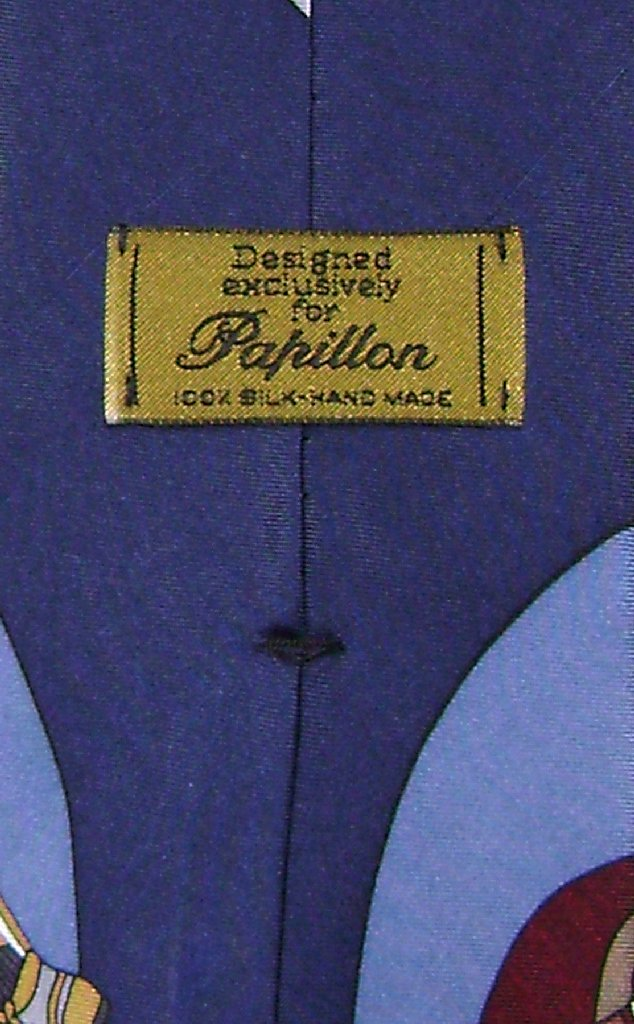 Papillon 100% SILK NeckTie Football Design Men's Neck Tie #124-4