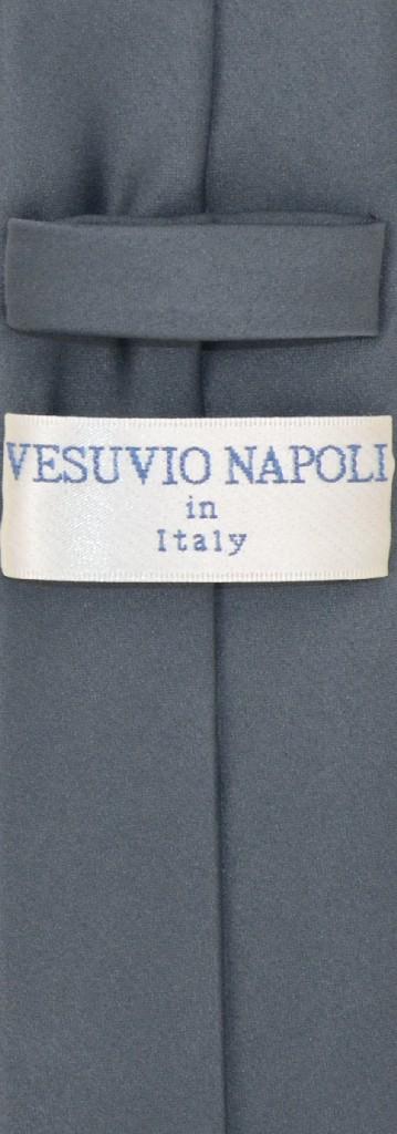 """Vesuvio Napoli CHARCOAL GREY Skinny 2.5"""" NeckTie Handkerchief Mens Neck Tie Set"""