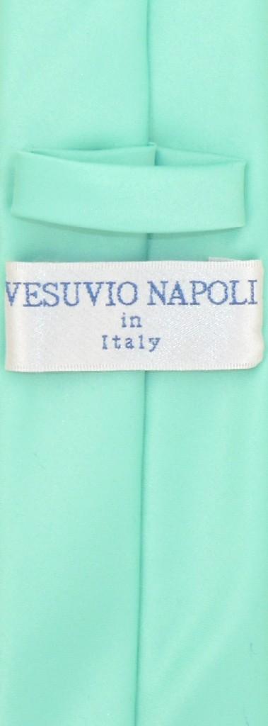 """Vesuvio Napoli AQUA GREEN Skinny 2.5"""" NeckTie Handkerchief Mens Neck Tie Set"""