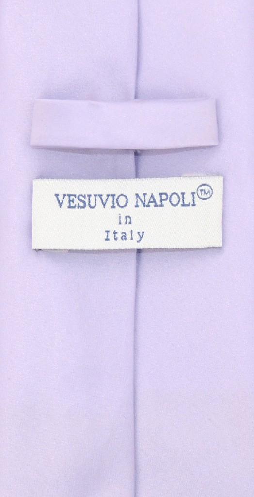 Vesuvio Napoli EXTRA LONG LAVENDER PURPLE NeckTie Handkerchief Mens Neck Tie Set