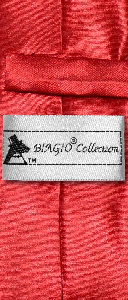 Biagio BOY'S NeckTie Solid ROSE RED Color Youth Neck Tie