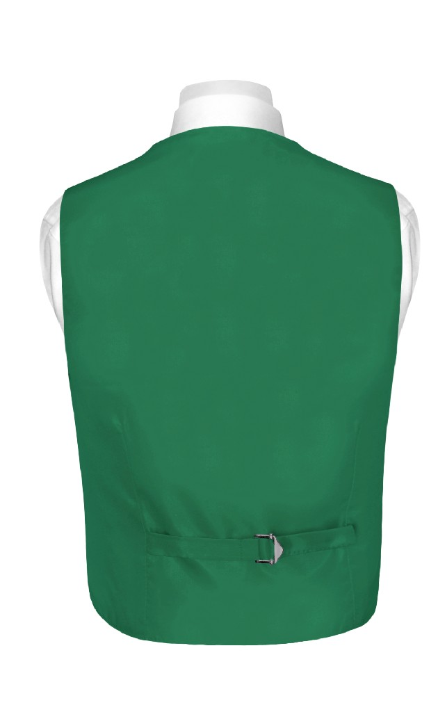 BOY'S Dress Vest & NeckTie Solid EMERALD GREEN Color Neck Tie Set