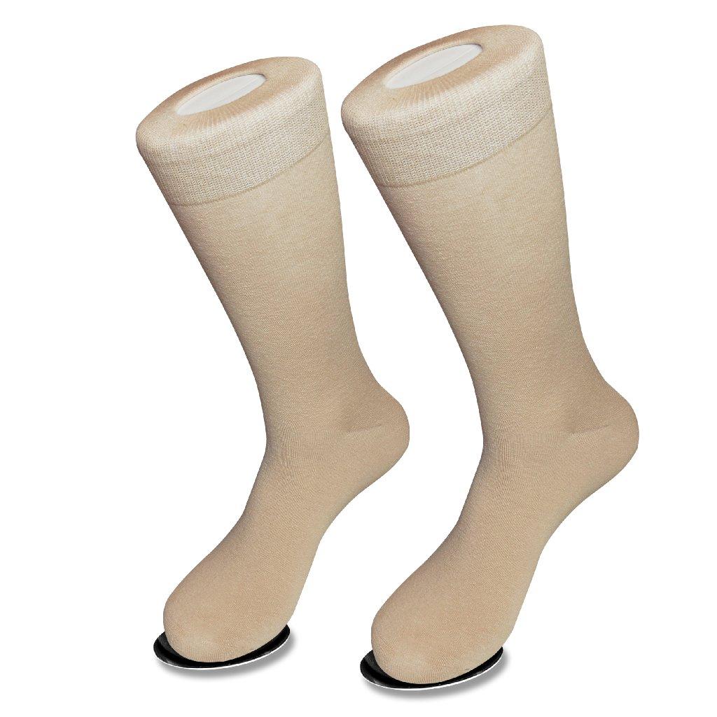 Solid Beige Color Mens Socks