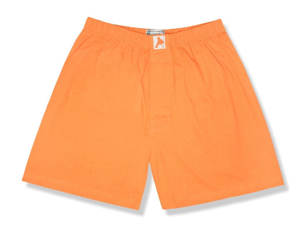 Biagio Men's Solid BURNT ORANGE Color BOXER 100% Knit Cotton Shorts