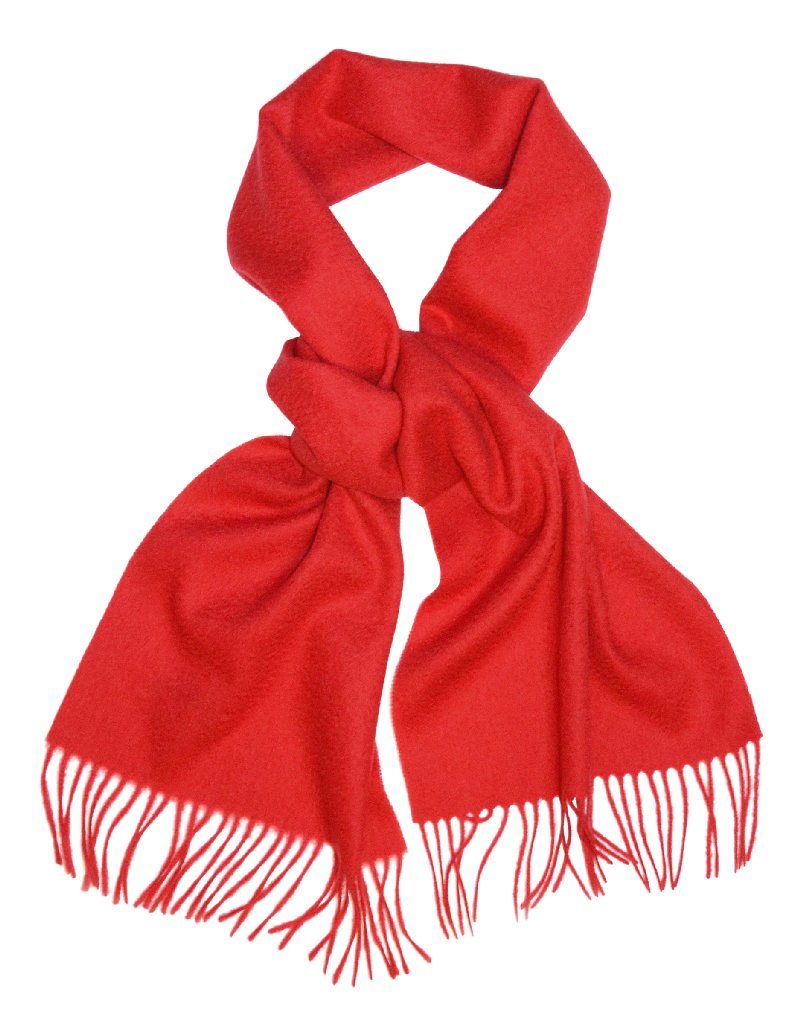 Biagio 100% Wool NECK Scarf Solid RED Color Scarve for Men or Women