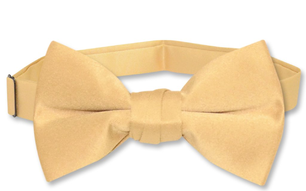 Vesuvio Napoli BOY'S BOWTIE Solid GOLD Color Youth Bow Tie
