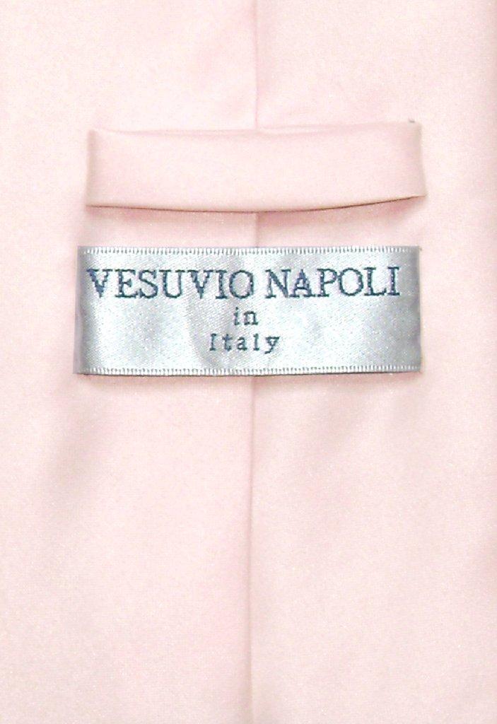 Vesuvio Napoli NeckTie Solid PINK Color Men's Neck Tie