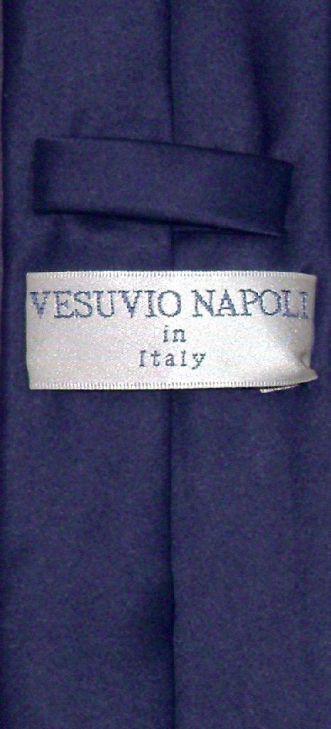 """Vesuvio Napoli Narrow NeckTie Skinny NAVY BLUE Color Men's Thin 2.5"""" Neck Tie"""