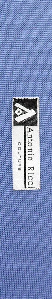Antonio Ricci KNITTED Neck Tie Solid CADET BLUE Color Men's Knit NeckTie
