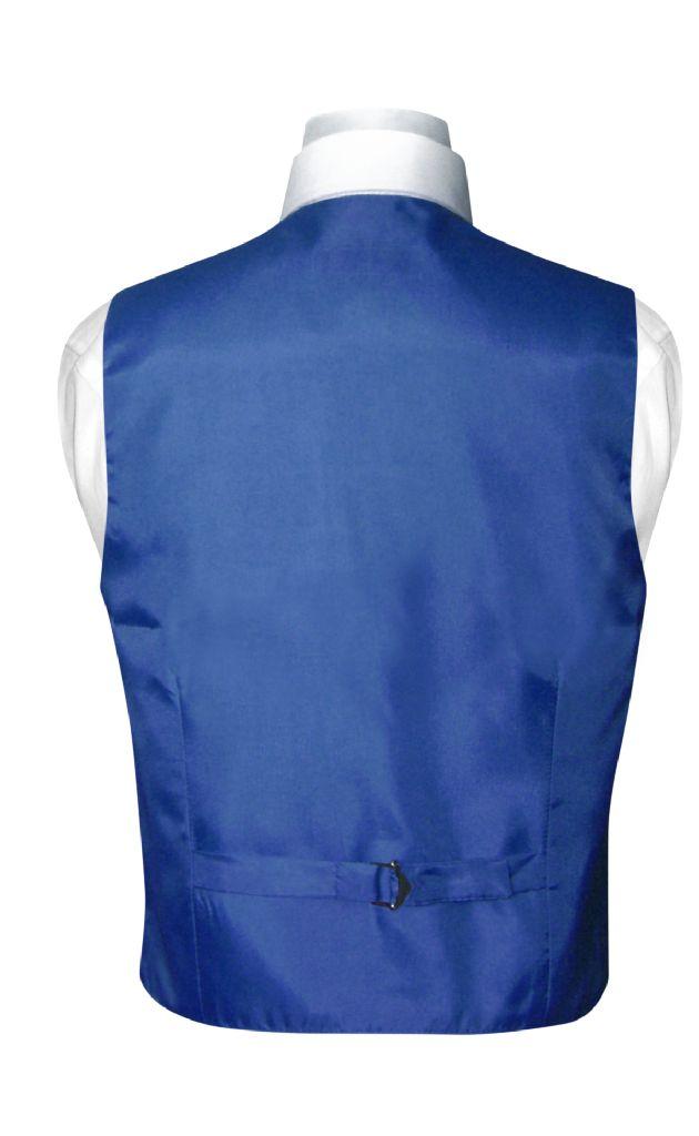 BOY'S Dress Vest & NeckTie Solid ROYAL BLUE Color Neck Tie Set