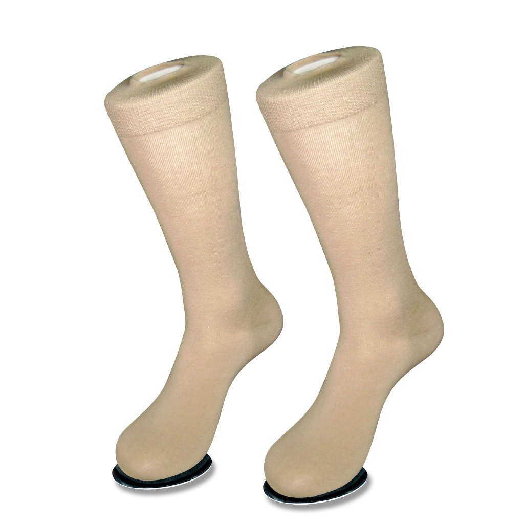 1 Pair of Antonio Ricci Solid BEIGE Color Men's COTTON Dress SOCKS