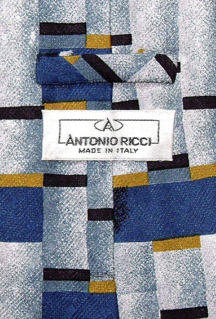 Antonio Ricci SILK NeckTie Made in ITALY Geometric Design Men's Neck Tie #3121-1