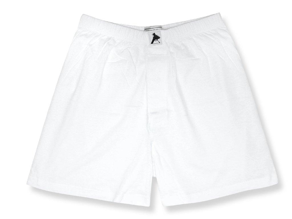 Biagio Men's Solid WHITE Color BOXER 100% Knit Cotton Shorts
