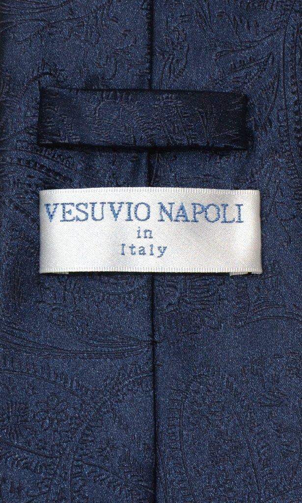 Vesuvio Napoli NeckTie NAVY BLUE Color Paisley Design Men's Neck Tie