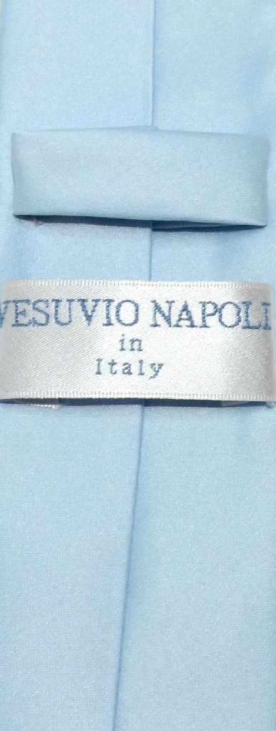 Vesuvio napoli narrow necktie skinny baby blue color mens neck tie vesuvio napoli vesuvio napoli narrow necktie skinny ccuart Image collections