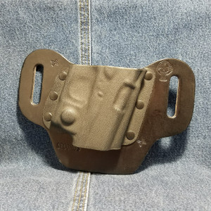 13764 CrossBreed DropSlide SMITH & WESSON SHIELD with VIRIDIAN R5 ECR REACTOR /  Right Hand / Black Cow