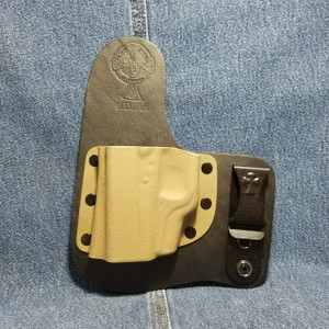 13830 CrossBreed Freedom Carry GLOCK 43 with Crimson Trace LG-443 / Left Hand / Black Cow