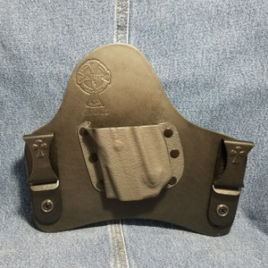 13862 CrossBreed SuperTuck RUGER LCP with Viridian E-Series Laser /  Left Hand / Black Cow