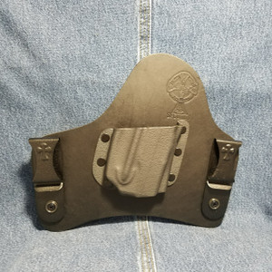 13868 CrossBreed SuperTuck RUGER LCP with Viridian E-Series Laser / Right Hand / Black Cow