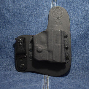 14028 CrossBreed Freedom Carry SMITH & WESSON SHIELD 9/40 with Crimson  Trace LL-801G / Right Hand / Black Cow
