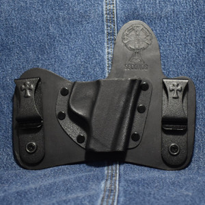 14046 CrossBreed MiniTuck SMITH & WESSON BODYGUARD 380 - No Laser / Right Hand / Black Cow