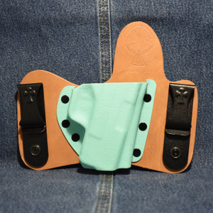 14111 CrossBreed MiniTuck SPRINGFIELD XDS / Right Hand / Horse / Tiffany Blue Pocket