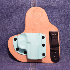 14134 CrossBreed Appendix Carry REMINGTON RM380 / Right Hand / Horse / Tiffany Blue Pocket