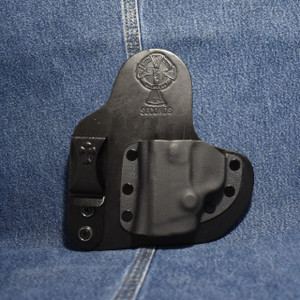 14366 CrossBreed Mini Appendix Carry SMITH & WESSON BODYGUARD 380 with Factory Built In Laser / Left Hand / Black Cow