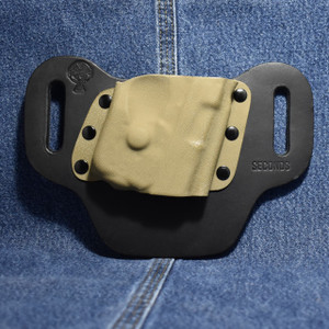 14371 CrossBreed DropSlide SIG P938 with Streamlight TLR-6 / Right Hand / Black Cow / Flat Dark Earth Pocket