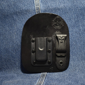 MC0064 CrossBreed IWB Mag Carrier / Single Stack 380/ Left Side Carry / Black Cow