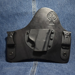 14383 CrossBreed SMITH & WESSON BODYGUARD 380 NO LASER / Right Hand / Black Cow