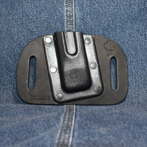 MC0067 CrossBreed OWB Mag Carrier Single Double Stack 9/40 / Left Side Carry / Black Cow