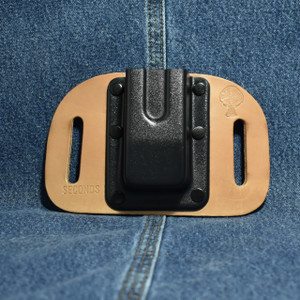 MC0084 CrossBreed OWB Mag Carrier DOUBLE STACK 45 / Straight Drop / Horse