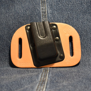 MC0089 CrossBreed OWB Mag Carrier DOUBLE STACK 45 / Left Side Carry / Premium Cow
