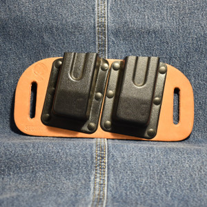 MC0108 CrossBreed Mag Carrier DOUBLE STACK 45 / Right Hand Carry / Premium Cow