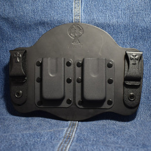 MC0110 CrossBreed IWB Mag Carrier / Single Stack 45/10mm / Dual Carry / Black Cow