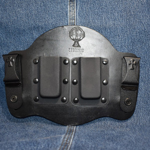 MC0113 CrossBreed IWB Mag Carrier / Single Stack 9/40/ Dual Carry / Black Cow