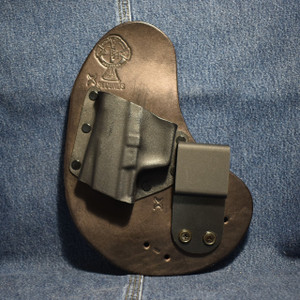 7213 CrossBreed QwikClip WALTHER PK 380 / Left Hand / Black Cow