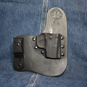 14830 CrossBreed Freedom Carry SMITH & WESSON SHIELD 9/40 with CRIMSON TRACE LL-801 / Right Hand / Black Cow