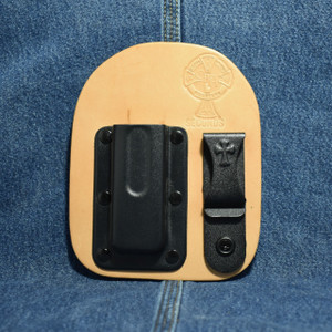 MC0177 CrossBreed IWB Mag Carrier SINGLE STACK 9/40 / Left Side Carry / Premium Hardrolled Cow