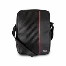 "BMW M Collection -  Leather Tablet Bag 10""  (Carbon & Red stripe)"