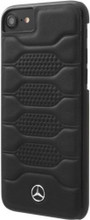 "Mercedes , Case for iPhone 8/7 , collection ""PATTERN I"" ,  Genuine leather ,Black"