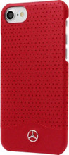 "Mercedes , Case for iPhone 8/7 , collection ""WAVE II"",  Genuine Leather - Perforated, Red"