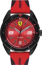 Scuderia Ferrari, Forza Black Watch , Black Resin, Red Dial,  Silicone Strap,  45mm