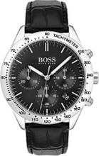 Hugo Boss Watch, Talent collection,  Stainless Steel,  Tachymeter Bezel, Black Croc Leather Strap