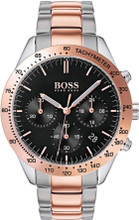 Hugo Boss Watch, Talent collection,  Stainless Steel Case, Black Dial, Tachymeter Bezel, Rose Gold-Tone Bracelet